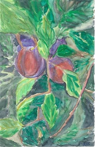 """""""Plums"""" original fine art by Laura Denning"""