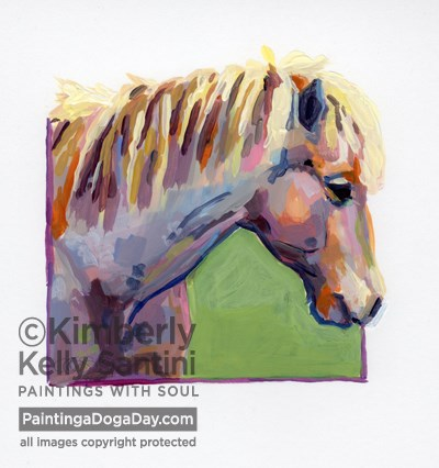 """""""Stardust, A Painted Sketch"""" original fine art by Kimberly Santini"""