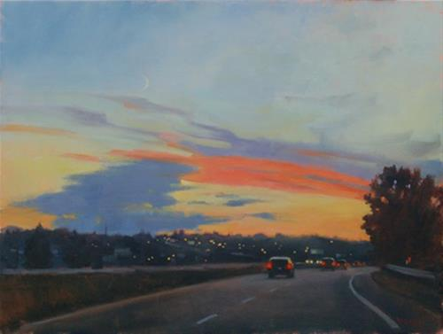 """Heading West, oil painting"" original fine art by Kathy Weber"