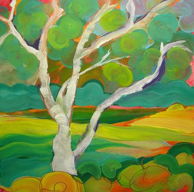 """""""Park Trees 4"""" original fine art by Pam Van Londen"""