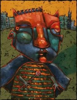 """Superheros Never Sleep"" original fine art by Brenda York"