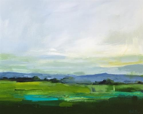 """July Green"" original fine art by Pamela Munger"