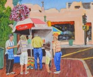 """Lunch Time"" original fine art by Robert Frankis"