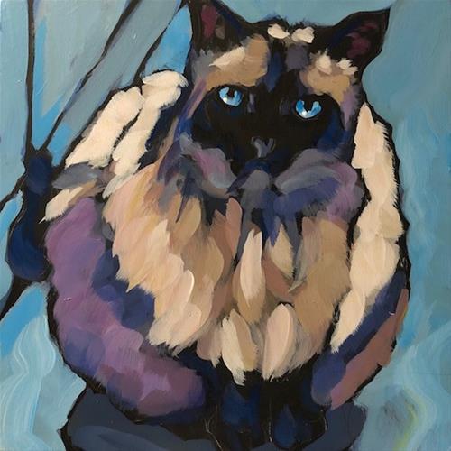 """""""Lulu Redo"""" original fine art by Kat Corrigan"""