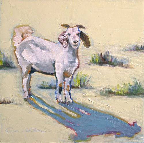 """One Wee Goat"" original fine art by Donna Walker"
