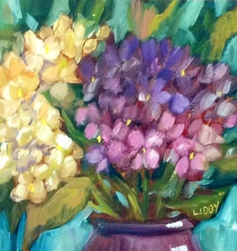 """""""Early Morning Flowers"""" original fine art by Libby Anderson"""
