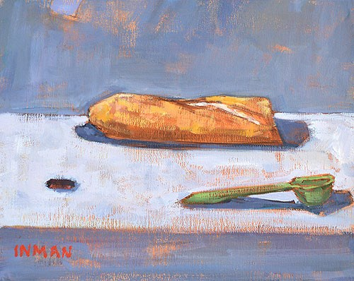"""""""Baguette, Measuring Spoon, And Round Thing"""" original fine art by Kevin Inman"""
