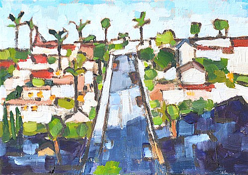 """Mission Hills, San Diego Plein Air"" original fine art by Kevin Inman"