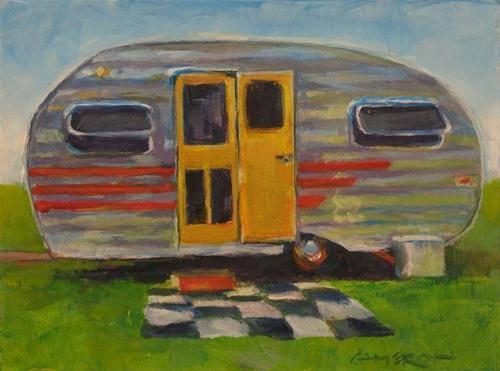 """PICNIC TIME"" original fine art by Brian Cameron"