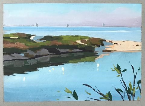 """Still Morning Waters"" original fine art by Sharon Schock"