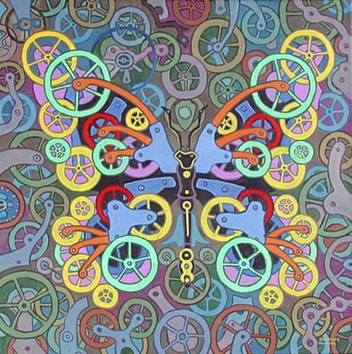 """""""Clockwork Butterfly No. 8"""" original fine art by Randal Huiskens"""