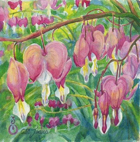 """Cupid's Garden"" original fine art by Catherine M. James"