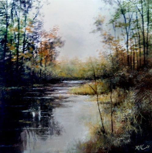 """The Fishing Pond"" original fine art by Bob Kimball"