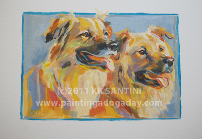"""Katie and Mollie, A Painted Sketch"" original fine art by Kimberly Santini"