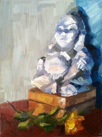 """Abstract Buddha"" original fine art by Michael Williamson"