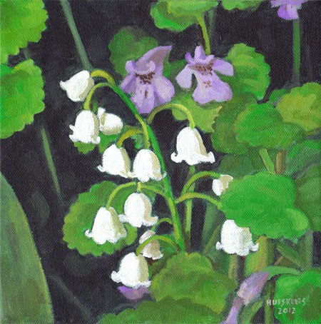 """Lilies Of The Valley No. 3"" original fine art by Randal Huiskens"