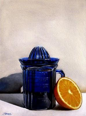 """""""Antique Orange Juicer"""" original fine art by Jelaine Faunce"""
