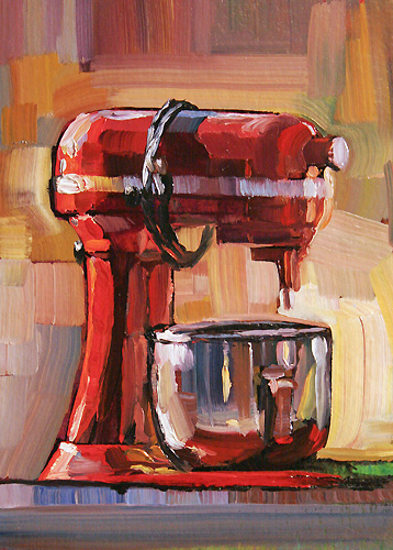 """Kitchenaid"" original fine art by Lesley Spanos"