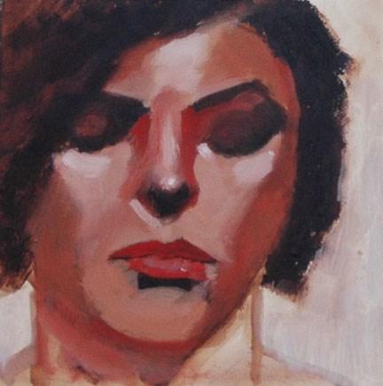 """""""FACE No. 116"""" original fine art by Linda Popple"""
