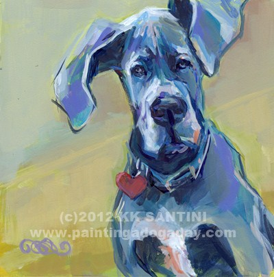 """Ears"" original fine art by Kimberly Santini"