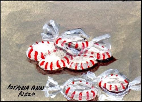 """Peppermints"" original fine art by Patricia Ann Rizzo"