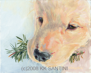 """The Canine Art Guild"" original fine art by Kimberly Santini"