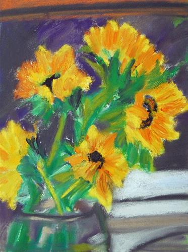 """Steroid Flowers"" original fine art by Donna Crosby"