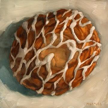"""""""Cheese Danish"""" original fine art by Michael Naples"""