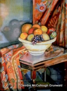 """Mary's Bowl"" original fine art by Deirdre McCullough Grunwald"