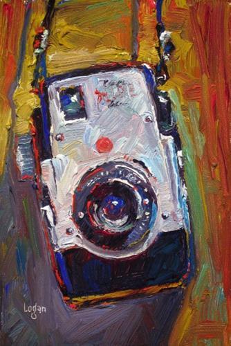 """""""Kodak Brownie Bull's-Eye Camera"""" original fine art by Raymond Logan"""