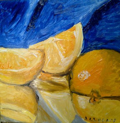 """orange reflections"" original fine art by Jo Allebach"