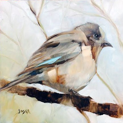 """Puff Against the Chill"" original fine art by Elaine Juska Joseph"