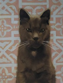 """""""Giving away Bronson for my 7 year blogiversary!"""" original fine art by Diane Hoeptner"""