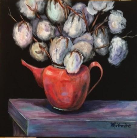 """""""Cotton #1"""" original fine art by Barbara Whitmire"""