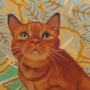 """Darby, a painting of a cat that will be given away, free!"" original fine art by Diane Hoeptner"