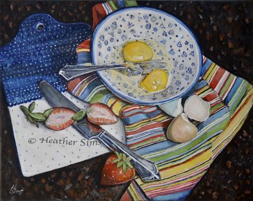 """Patterns: Polish Pottery LXV"" original fine art by Heather Sims"