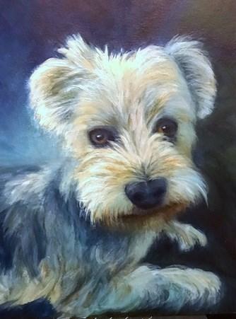 """""""4168 - Miles - Premium Pal Portrait"""" original fine art by Sea Dean"""