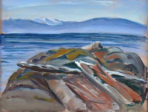 """Holland Point Scene"" original fine art by Darlene Young"