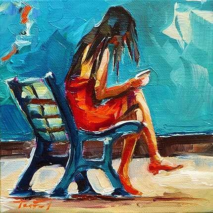 """""""Im Roten"""" original fine art by Jurij Frey"""