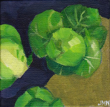 """""""Sprouts on Brown Paper"""" original fine art by J M Needham"""