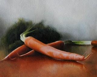 """""""Carrots"""" original fine art by Jonathan Aller"""