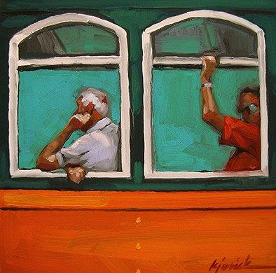 """Easy Riders"" original fine art by Karin Jurick"