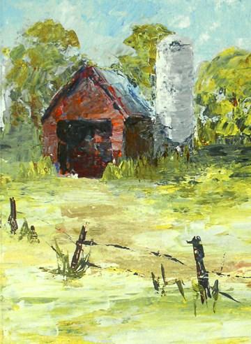 """""""Overgrown Farm"""" original fine art by Anna Vreman"""