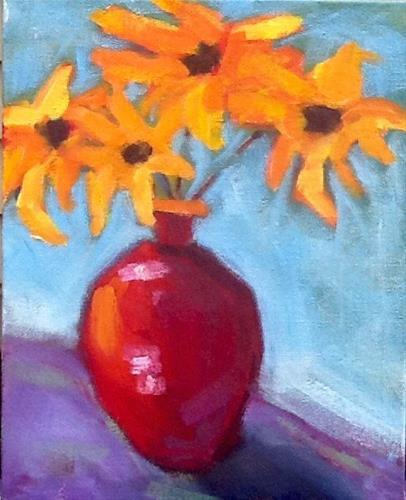 """BrownEyed Susan"" original fine art by Elizabeth Bish"