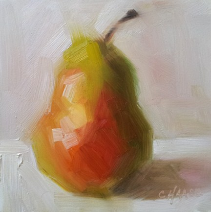 """""""Natural Pear"""" original fine art by Cindy Haase"""