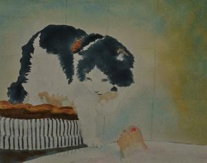 """Ipazia & Silvia"" original fine art by Dana Richards"