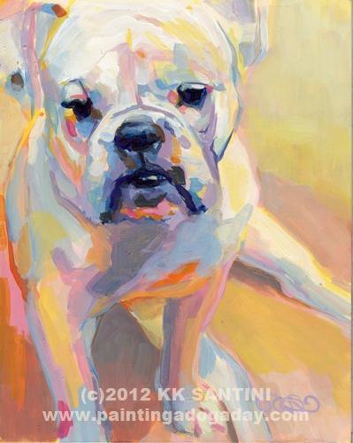 """Gus"" original fine art by Kimberly Santini"
