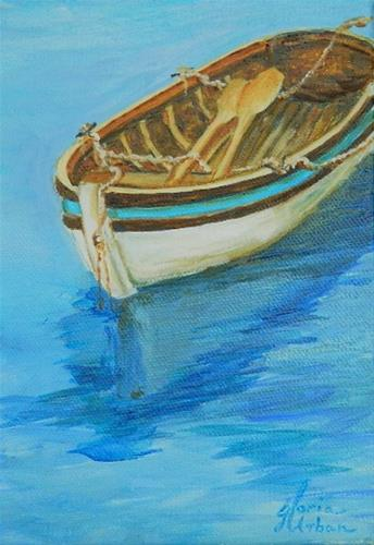 """Row, Row your boat"" original fine art by Gloria Urban"