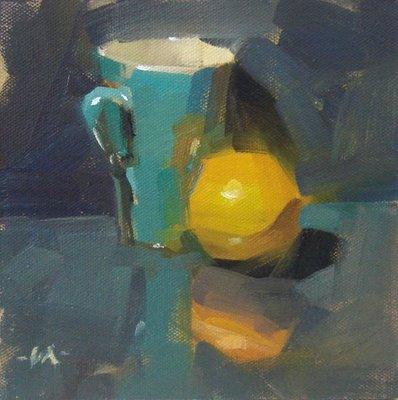 """Simple Strokes"" original fine art by Carol Marine"