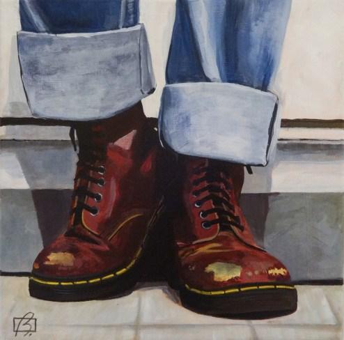 """""""Doc Martens"""" original fine art by Andre Beaulieu"""